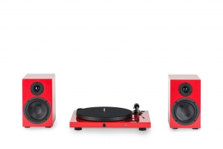 Pro-Ject Juke Box E + Speaker Box 5 Red