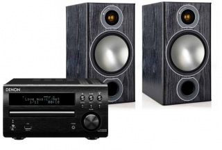 Denon RCD-M40 DAB + Monitor Audio Bronze 2