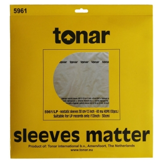 "Tonar LP-12"" NOSTATIC sleeves"